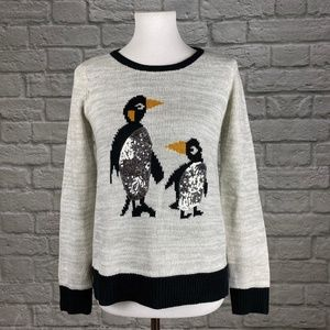 Holiday Time Sequin Penguin Winter Holiday Sweater